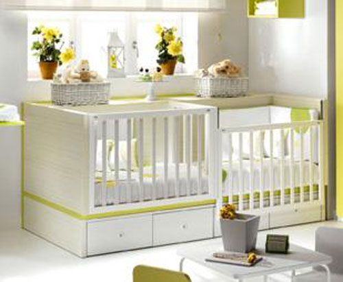 Cunas dobles baby cribs home decor y baby room - Cunas para bebes gemelos ...