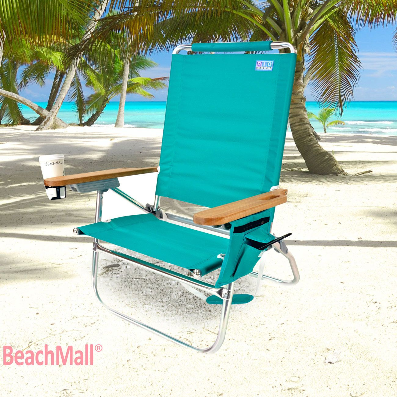 Beach Chairs With Cup Holders Posture Pack Seat Wedge Rio Brands Genuine Bum Chair W Holder Florida