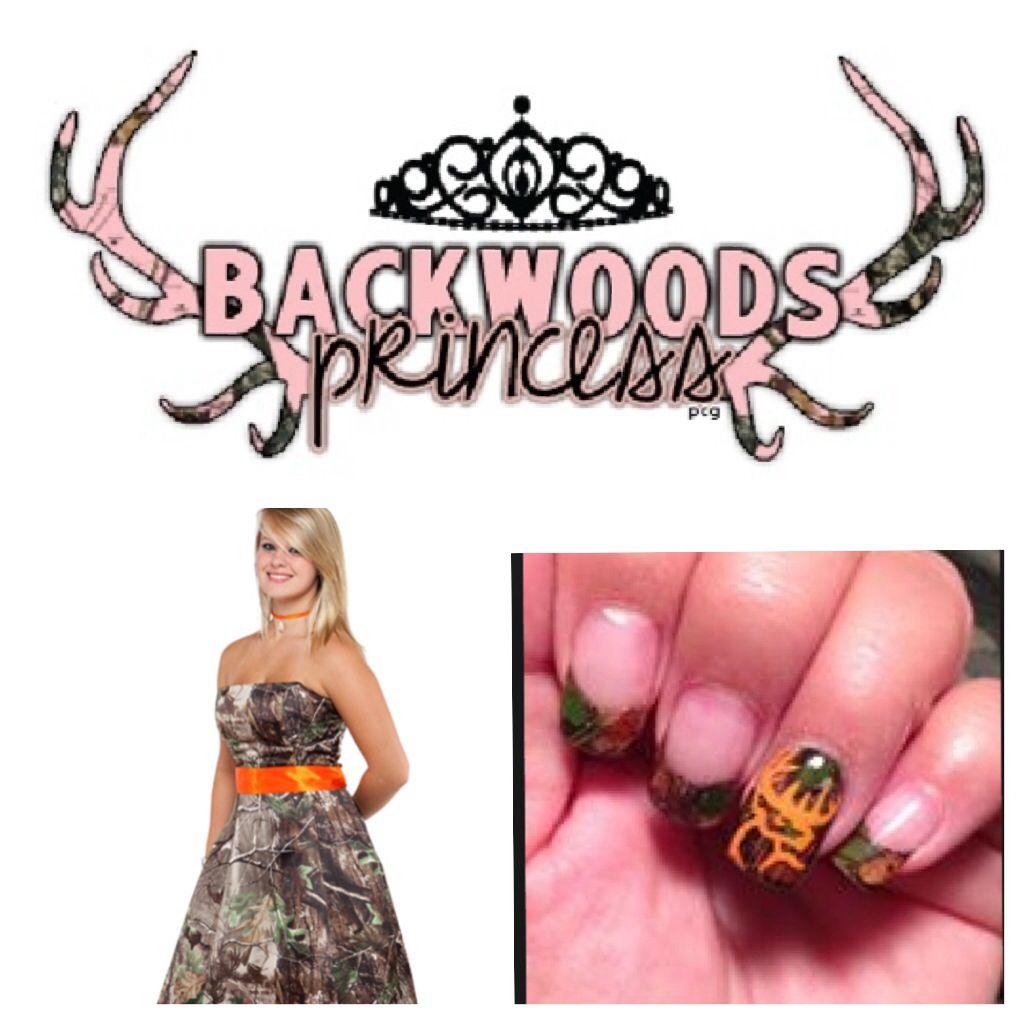 Camo prom dress and nail design dresses pinterest camo prom