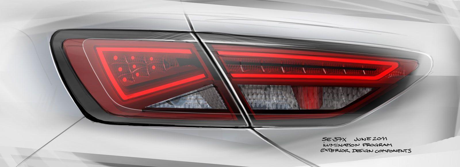 Seat leon st tail lamp design sketch car body design