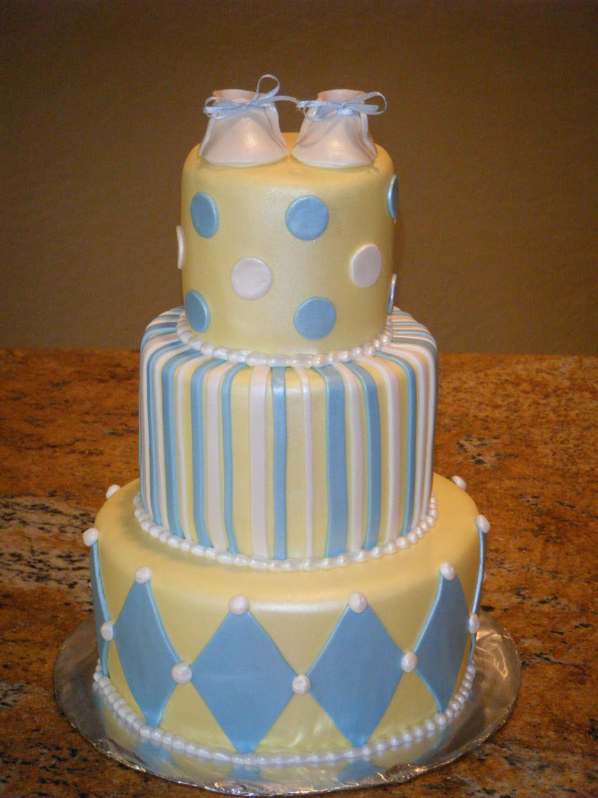 baby blue and yellow wedding cakes baby shower ideas for boys cassy s cakes blue and 10995