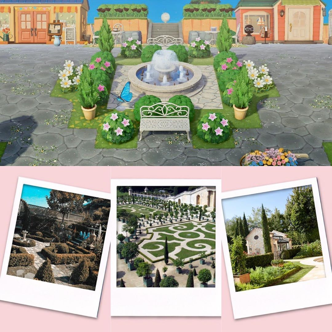 """Photo of Caitlinsanity 🎮's Instagram profile post: """"PATHS ARE LINKED IN STORY HIGHLIGHTS! Just a little peek at my re-landscaping from today — inspired by the enchanting gardens of French…"""""""