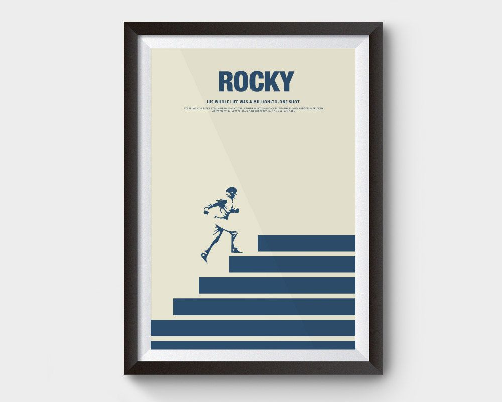 A4 Sizes A3 A2 A1 Rocky Balboa Retro Vintage Movie Poster