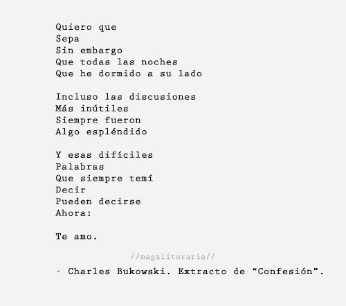 Poemas De Charles Bukowski Sobre El Amor Magaliteraria Palabras Bukowski Frases Emo