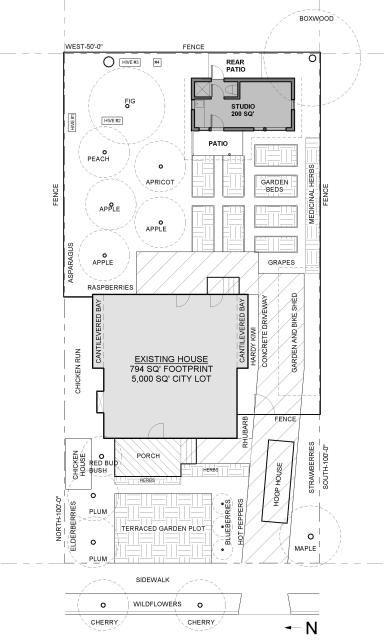 Site Plan Tiny House Granny Pod Guest House Plans