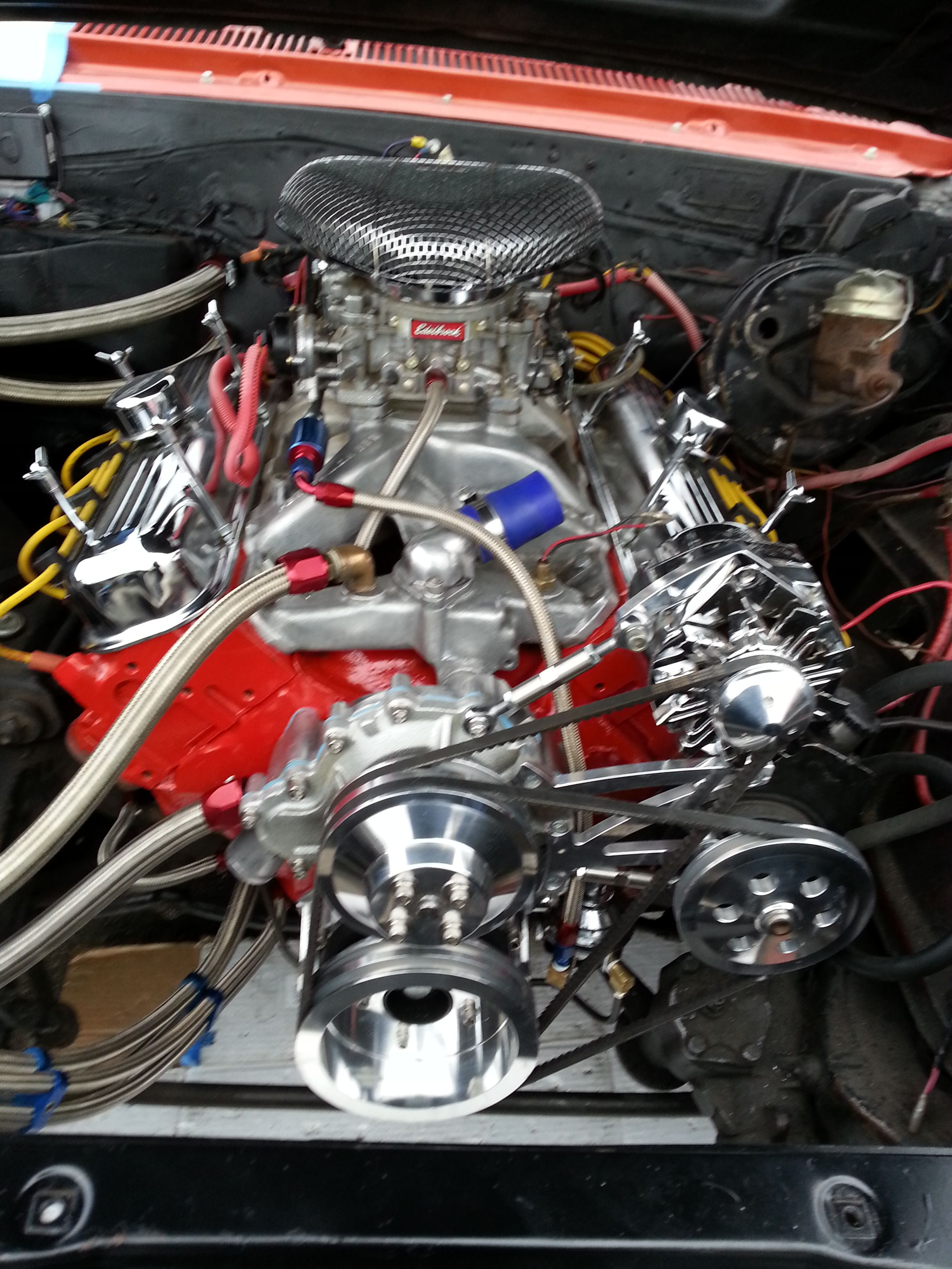 pontiac 400 engine in my 66 olds  [ 2448 x 3264 Pixel ]