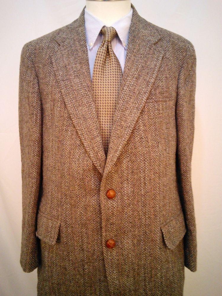 Harris Tweed Norm Thompson Men's 38R Gray Sports Coat 100
