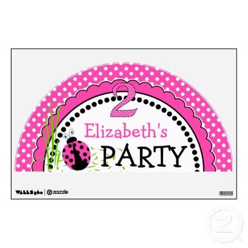 Cute Ladybugs 2nd Birthday - Pink Room Graphics
