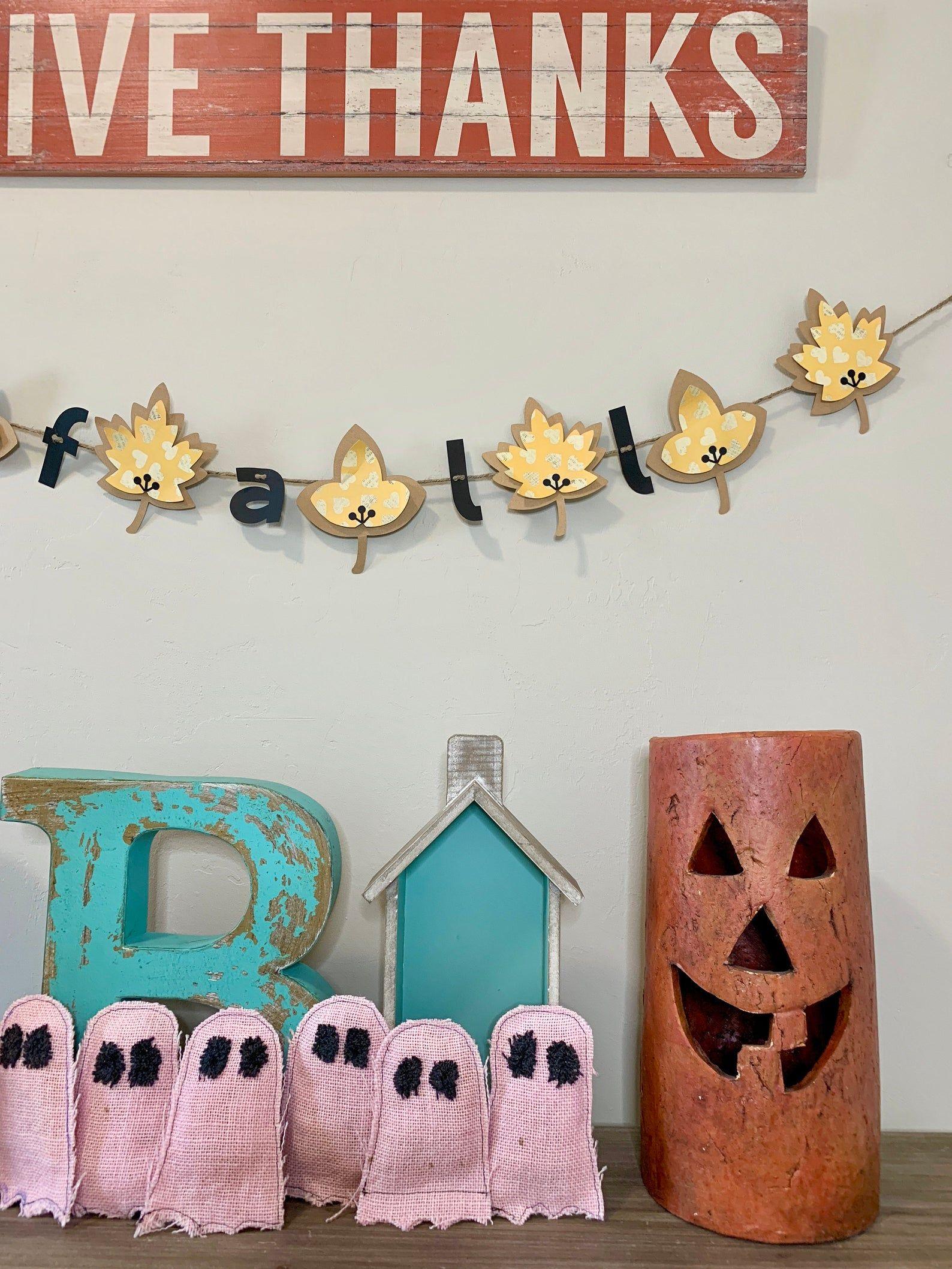 Thanksgiving Decor, Thanksgiving Banner, Fall Leaf Garland #leafgarland