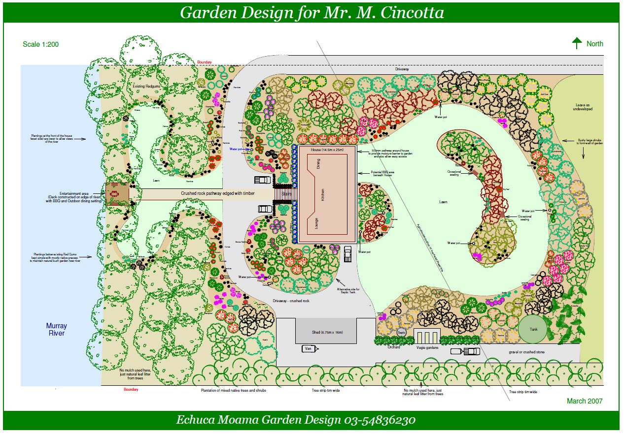 Example Of Natural Yet Organized Landscape Design Software