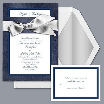 Saphire And White Wedding Invitations David S Bridal Brides Wedding Invitations Wedding Invitations Inexpensive Wedding Invitations
