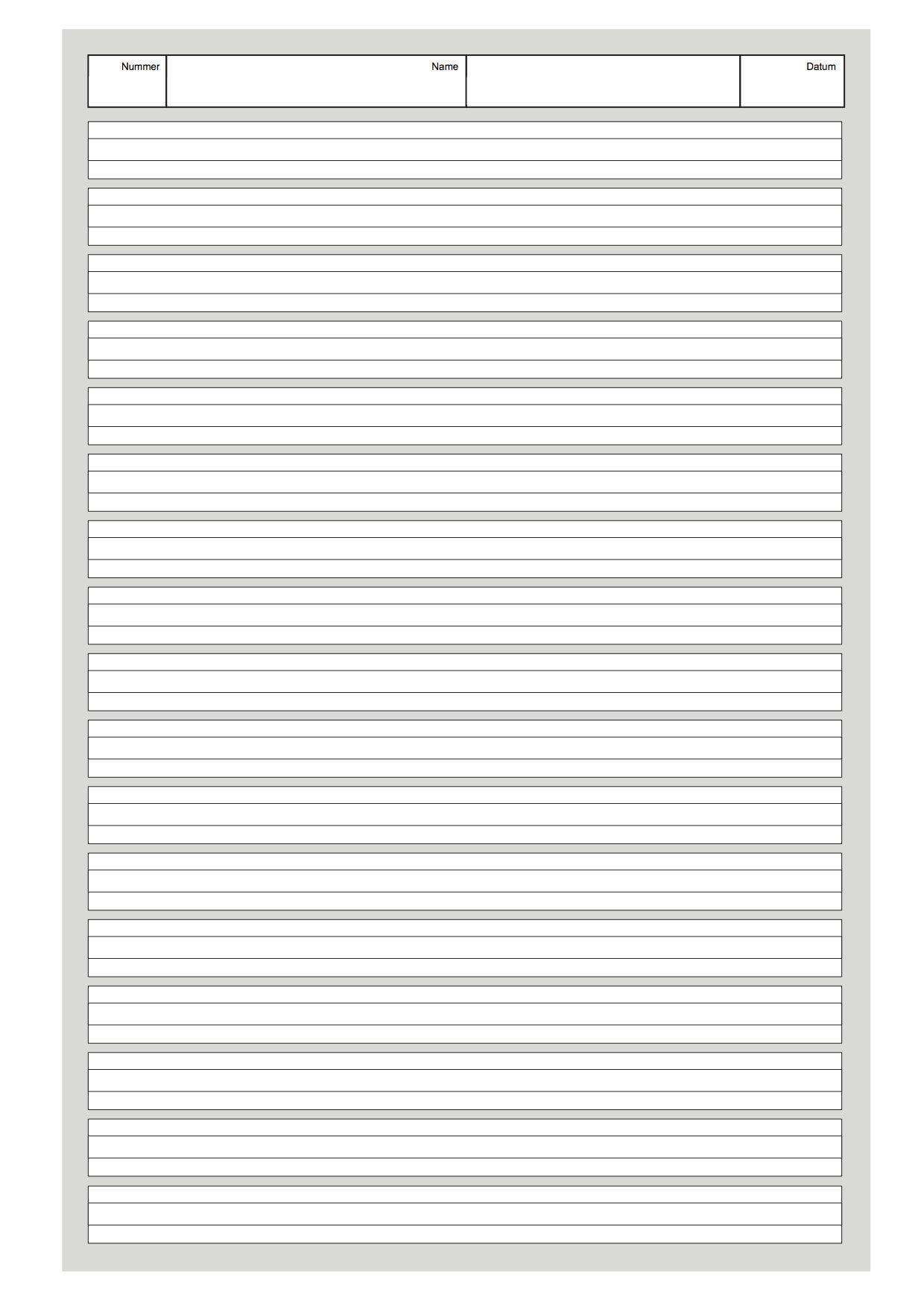 "Schreibpapier ""Linie Klasse 1"" (grau)"