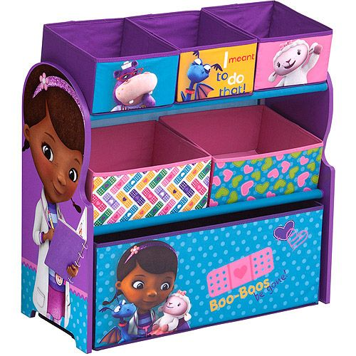 Paw Patrol Toy Organizer Bin Cubby Kids Child Storage Box: Delta Disney Doc McStuffins Multi-Bin Toy Organizer, Blue