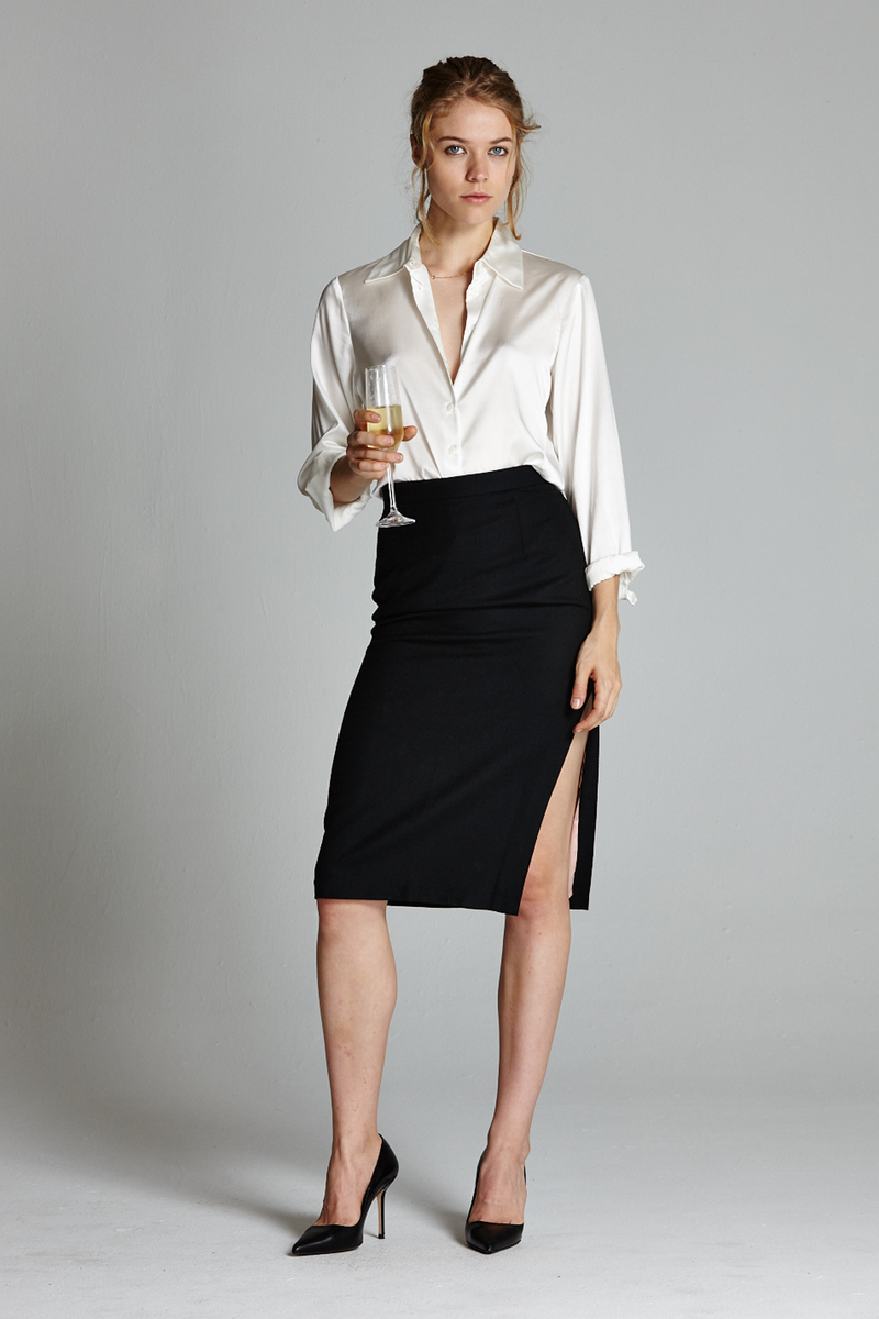dcf098c825 The Secretary side slit pencil skirt (Please note that some of the Tops may  run small