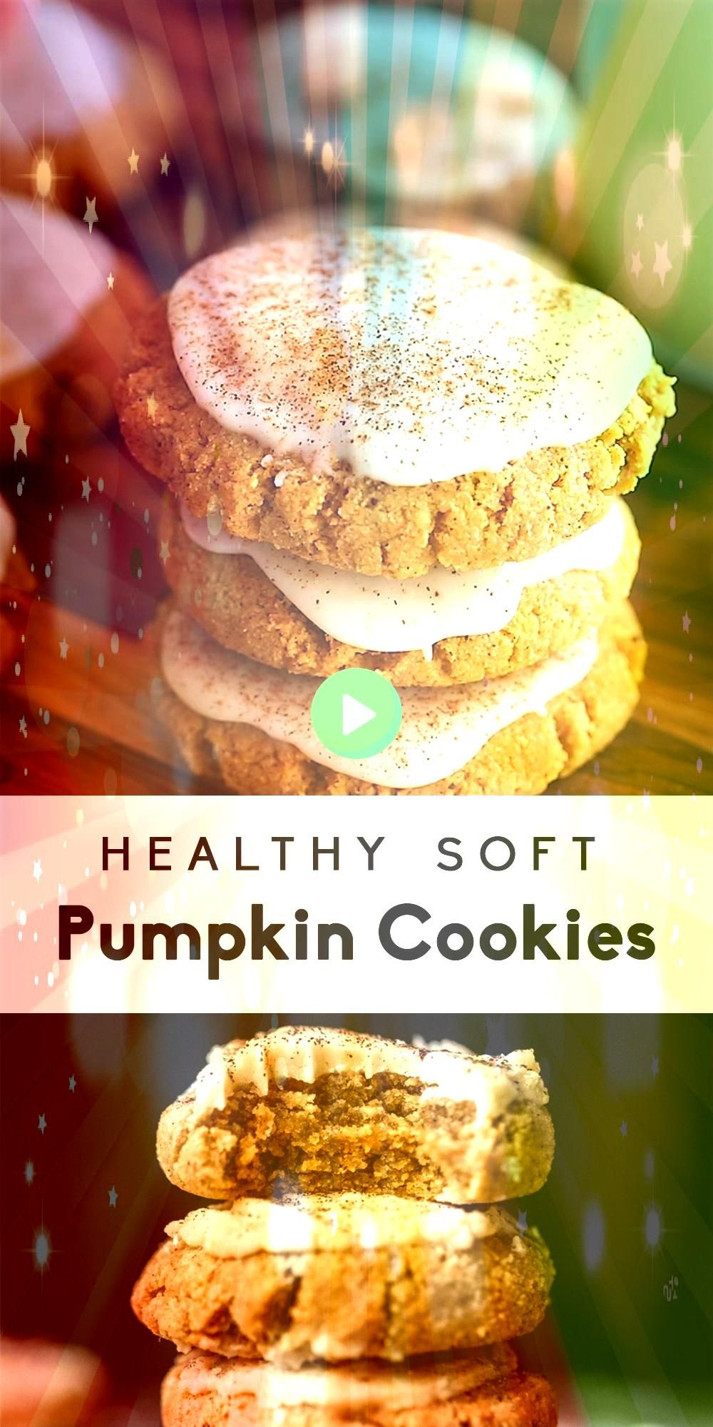 Soft Pumpkin Cookies with Salted Maple Frosting These healthy soft pumpkin cookies with an addicting salted maple frosting are absolutely delicious These meltinyourmouth...