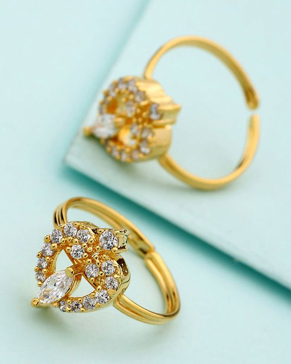 Gold Plated Adjustable Toe Rings Available