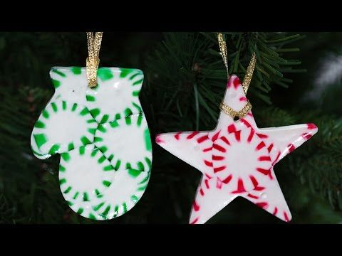 DIY Peppermint Christmas Tree Ornaments Southern Living - YouTube