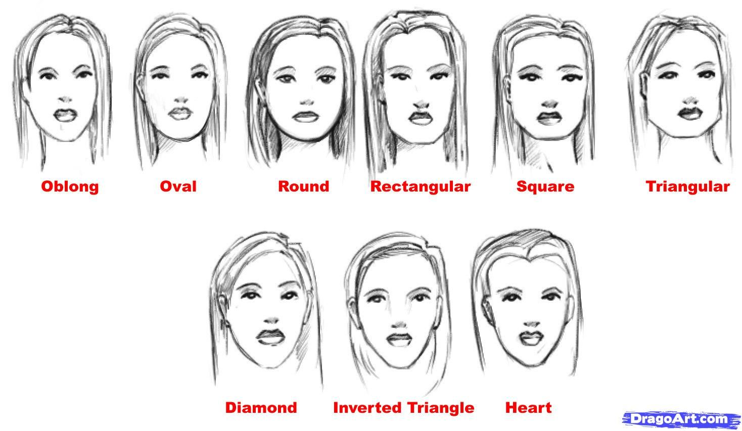 Different Face Shapes Need Different Kinds Of Makeup Drawing