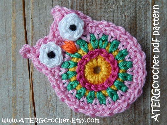 Crochet pattern OWL key ring by ATERGcrochet | Pinterest | Llaveros ...