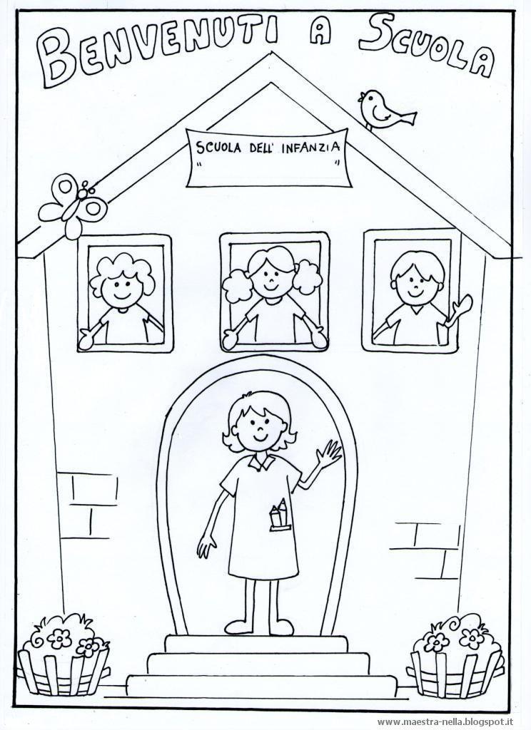 Disegno Di Scuola Da Colorare.Maestra Nella Schede Benvenuti E Bentornati Cose Di