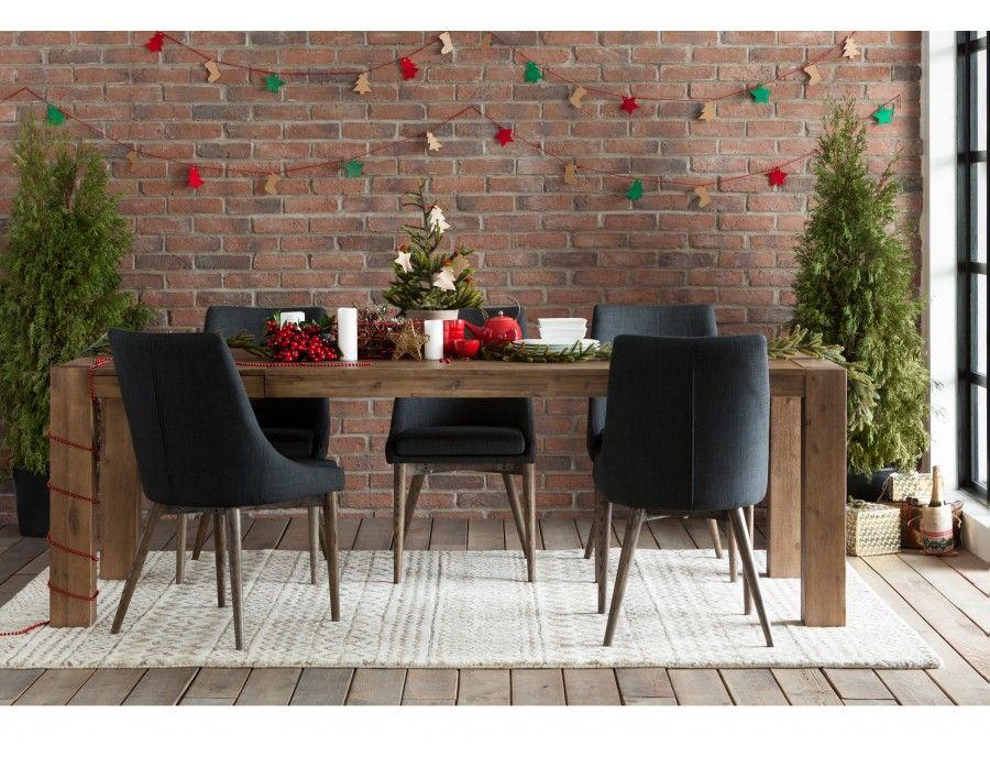 Abbywood gris fonc chaise de salle manger chaise - Alinea chaise salle a manger ...
