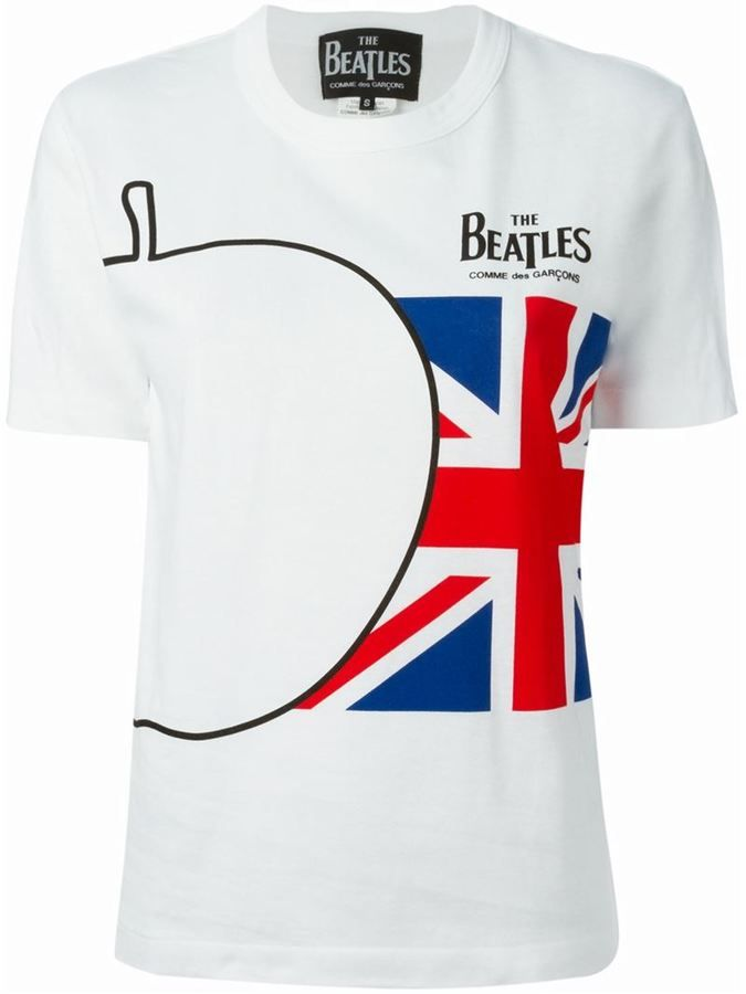 3a9538431 Comme Des Garçons CDG X The Beatles Union Jack T-shirt | Womens ...