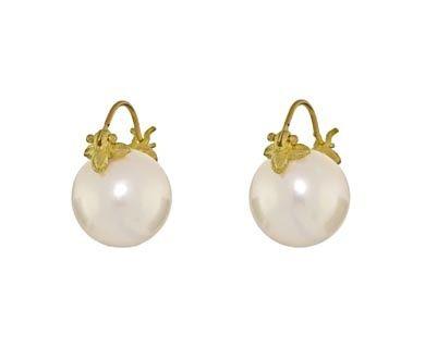 Gabrielle Sanchez Earrings White South Sea Pearl Jewelry