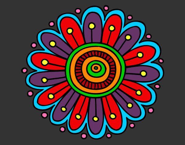 Dibujo Mandala Margarita Margaritas Dibujo