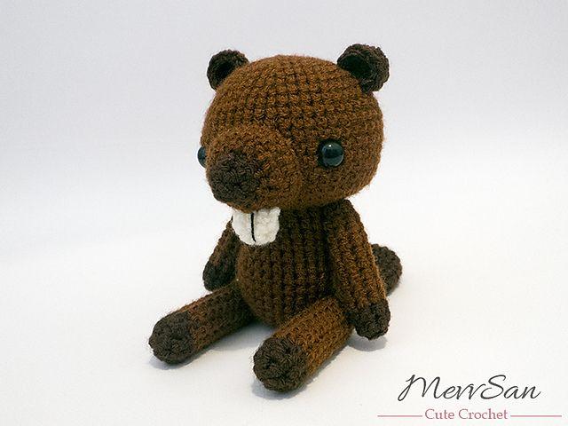 Amigurumi Woodland Critter Beaver pattern by Mevlinn Gusick | Tejido