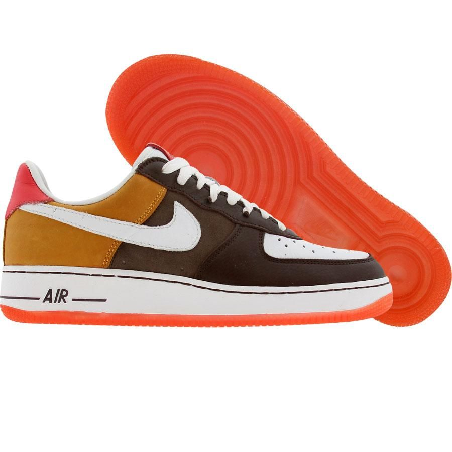 info for 4171b 6c4f6 Nike Womens Nike Air Force 1 Low Premium (white   grenadine   baroque  brown) 308038-111 -  139.99. Find this ...