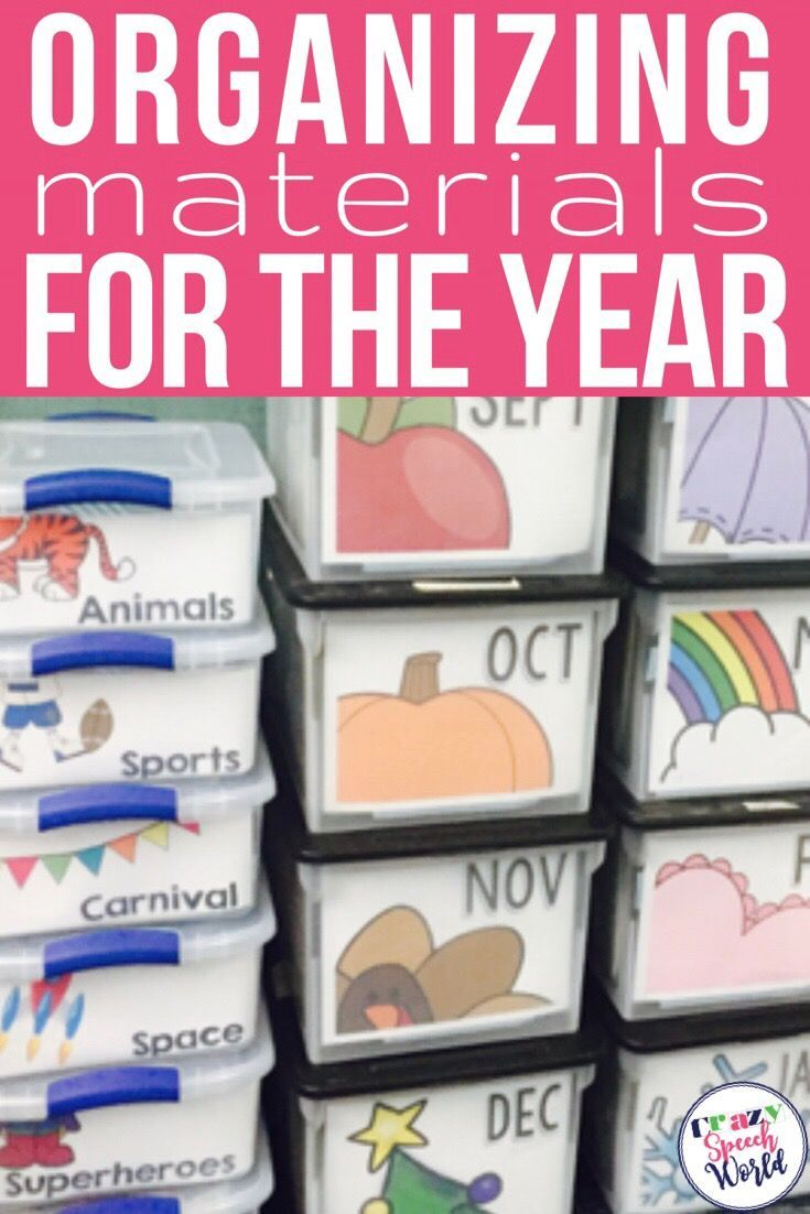 Do you need help organizing all of your speech therapy materials?  Let me show you how I organize and store all of my materials for the year!