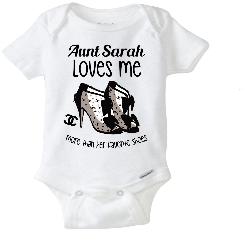 My Aunt loves me baby onesie Aunt esie Aunt shirt Funny baby