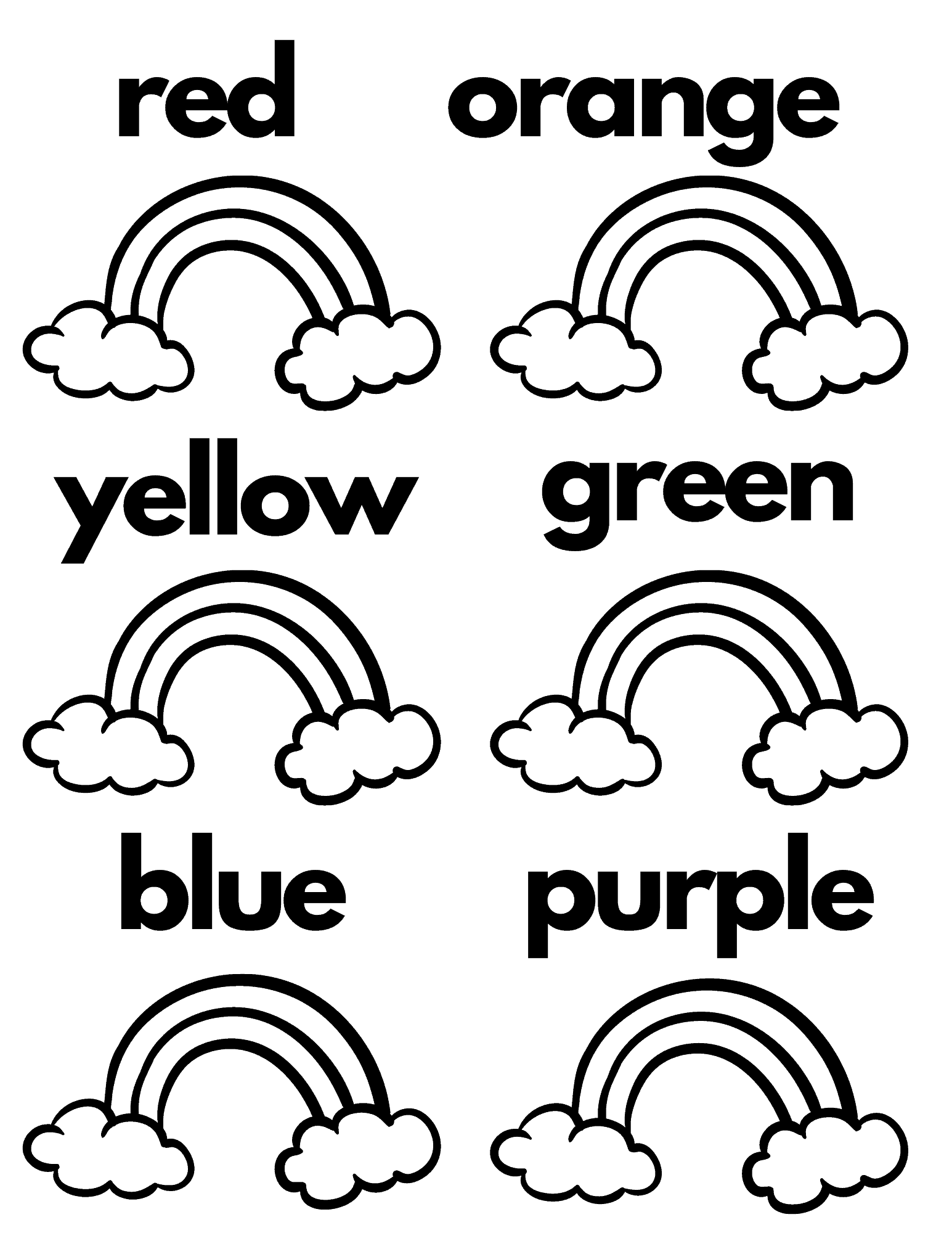 Free Printable Rainbow Activities For Kids