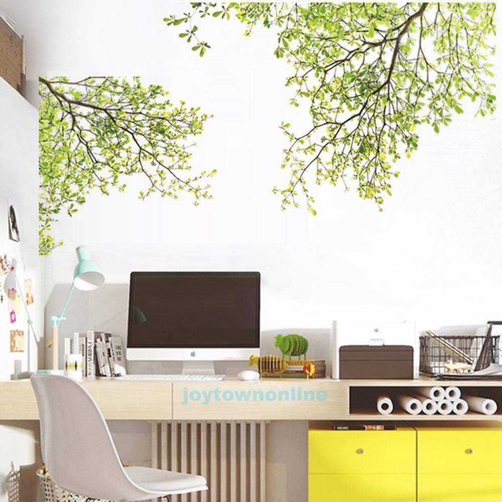 Grün Baum Blätter Wandtattoo Wandaufkleber Wandsticker Wohnzimmer  Schlafzimmer