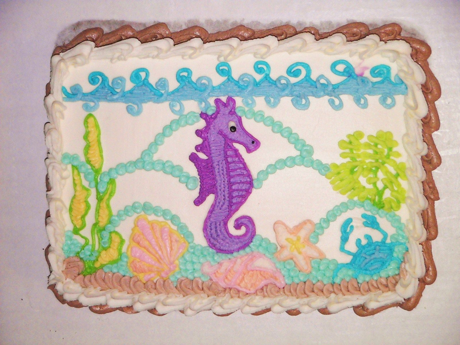 Littlest Pet Shop Seahorse cake tutorial how to make