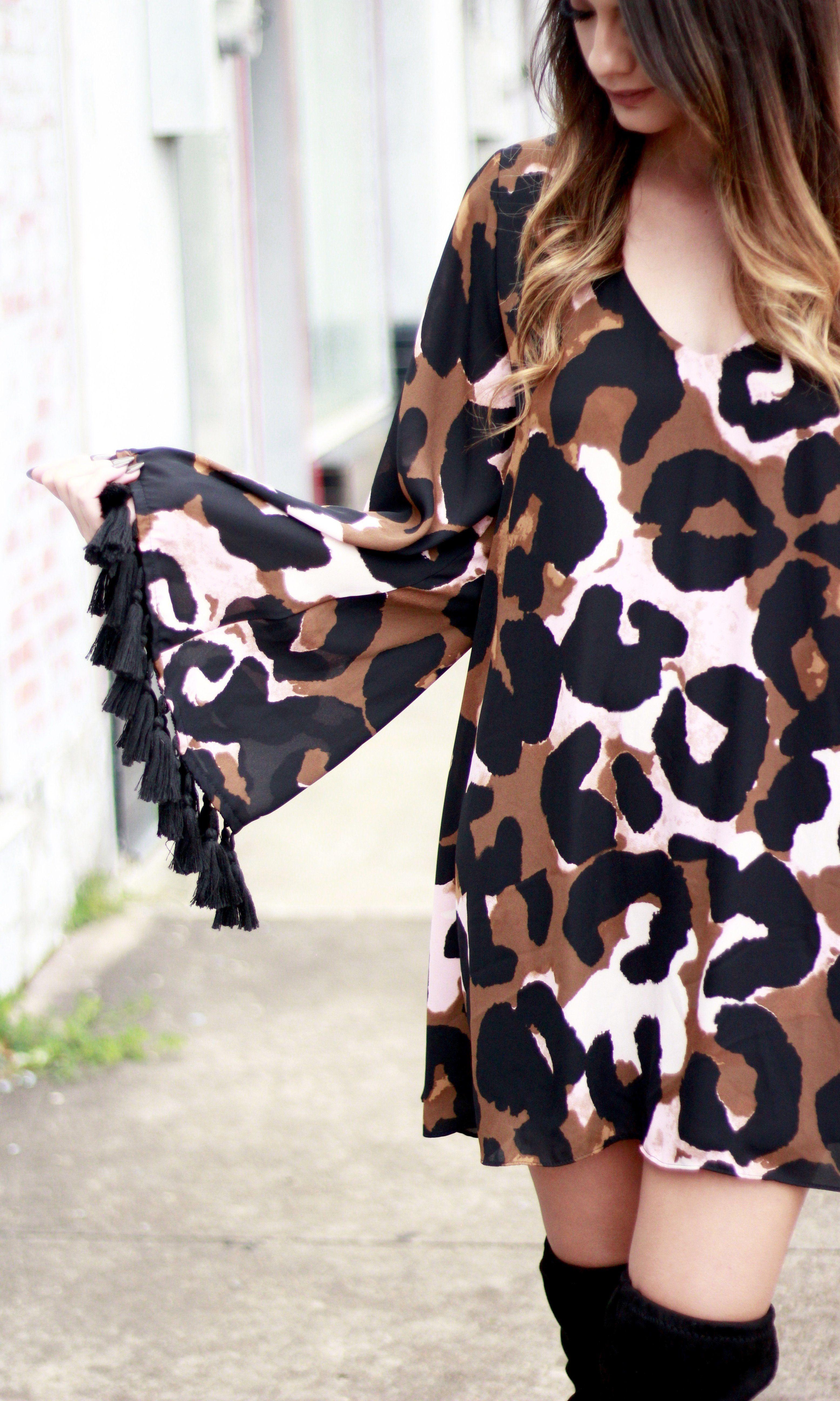 SEEING SPOTS LEOPARD DRESS Leopard dress, Dresses