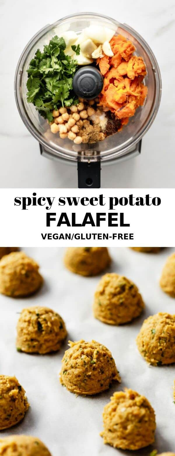Spicy sweet potato falafel Baked Sweet Potato Fries - This sweet potato fries recipe is so easy to make and tastes absolutely DELICIOUS!\u00a0Healthy, crispy and full of flavor.\u00a0Makes the perfect side dish or snack! #healthymarshmallows