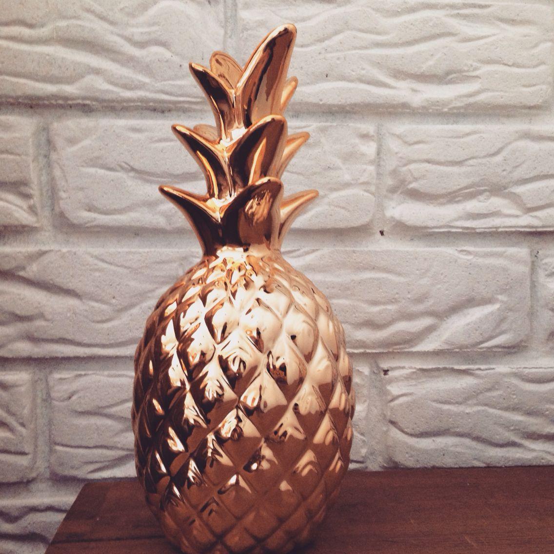 Home Decor | Gold Pineapple