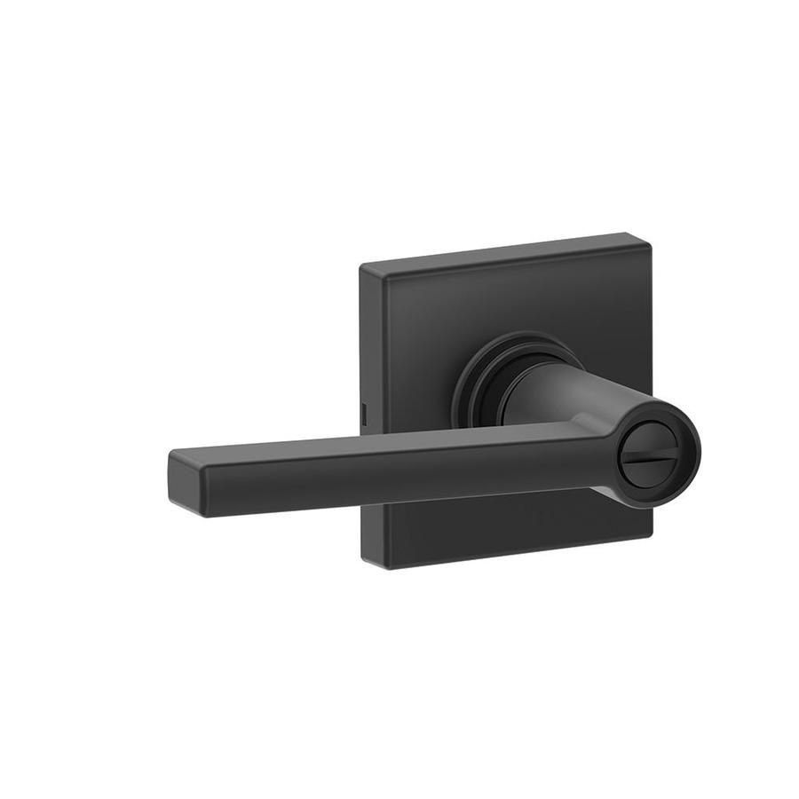 Schlage J Decorative Solstice X Collins Matte Black Reversible