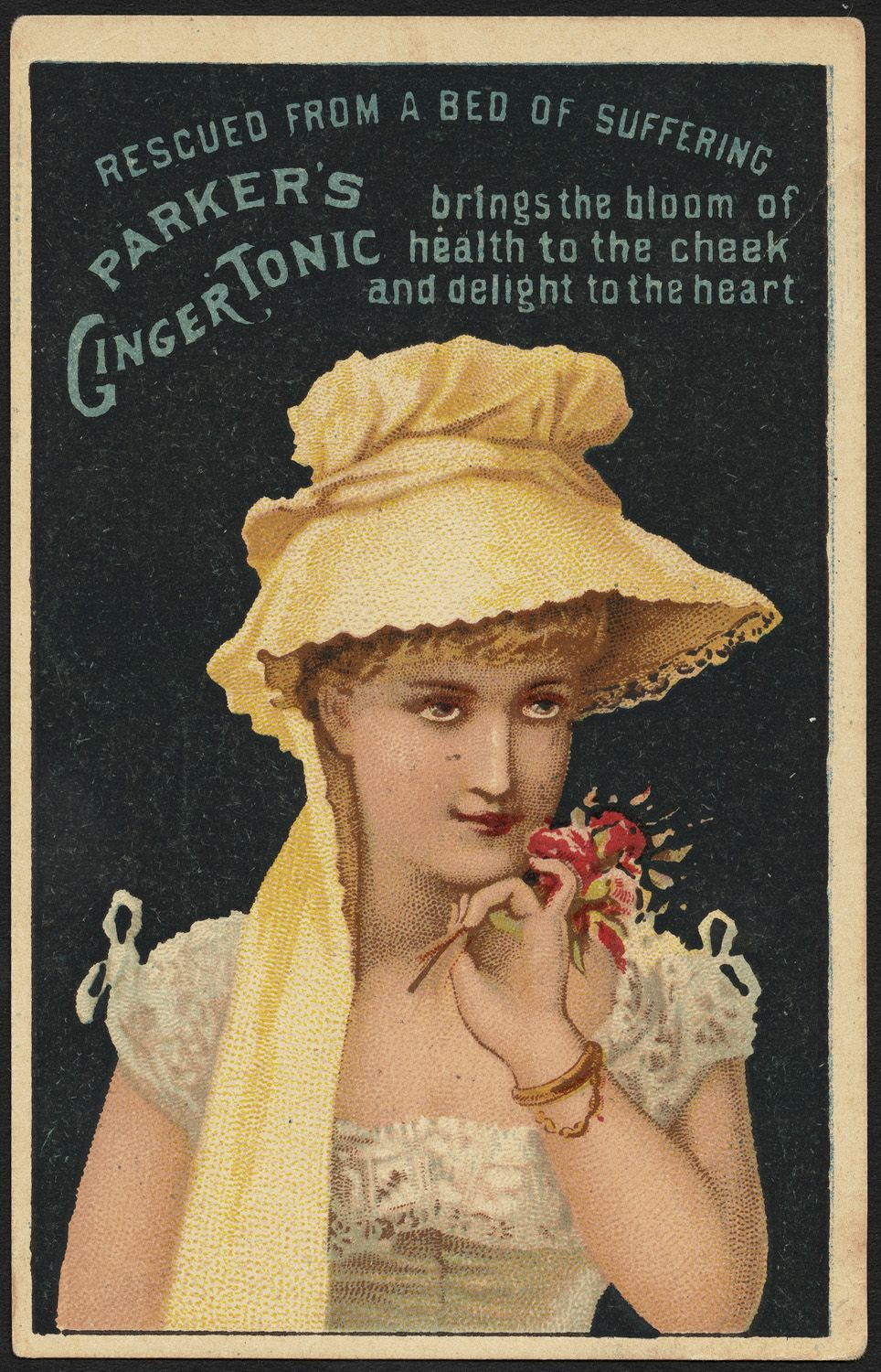 Victorian Trade Card Parkers Ginger Tonic Parkers Hair Balsam