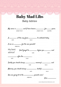 photo about Baby Shower Mad Libs Printable Free identify Totally free Kid Crazy Libs Activity - Child Guidance - Youngster Shower Recommendations