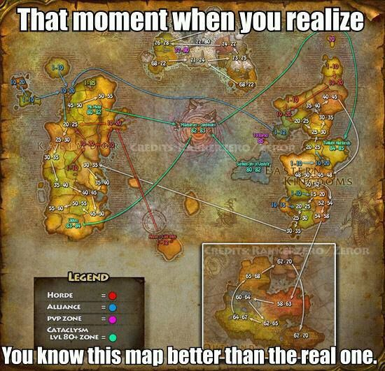 Sadly This Is True World Of Warcraft Warcraft Flow Map