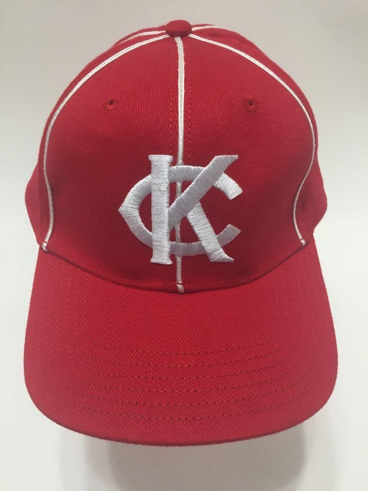 Kansas City Monarchs Negro League Baseball Red White Cap Hat Velcro Close  Pepsi  64fa41c1770