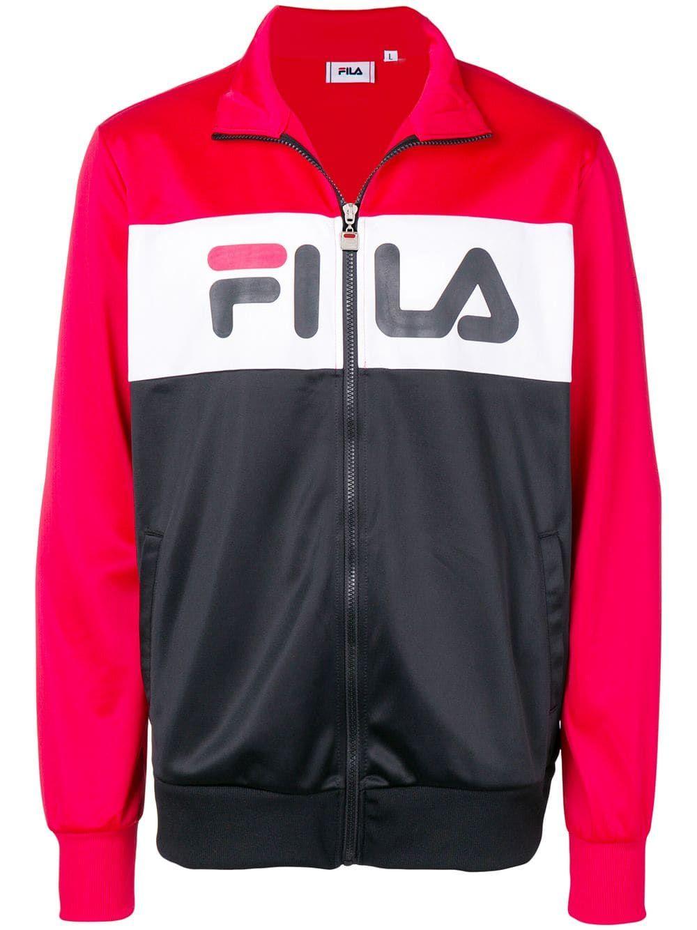 8cb29b3f Fila logo track jacket - Black in 2019 | Products | Jackets, Fila ...