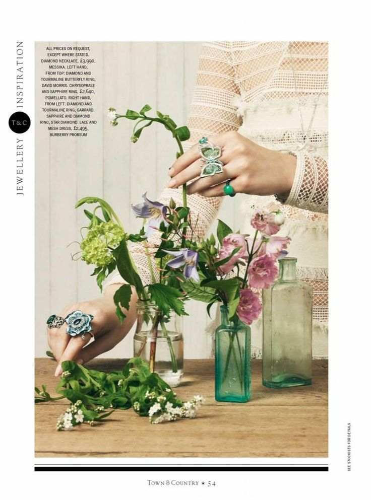 Photo of Jewelry editorial photographed by Paul Zak for Town & Country, July 2016. Dress …