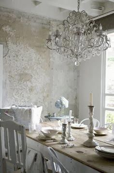 Efficient enhanced shabby chic dining room vintage look at here now #palettendeko