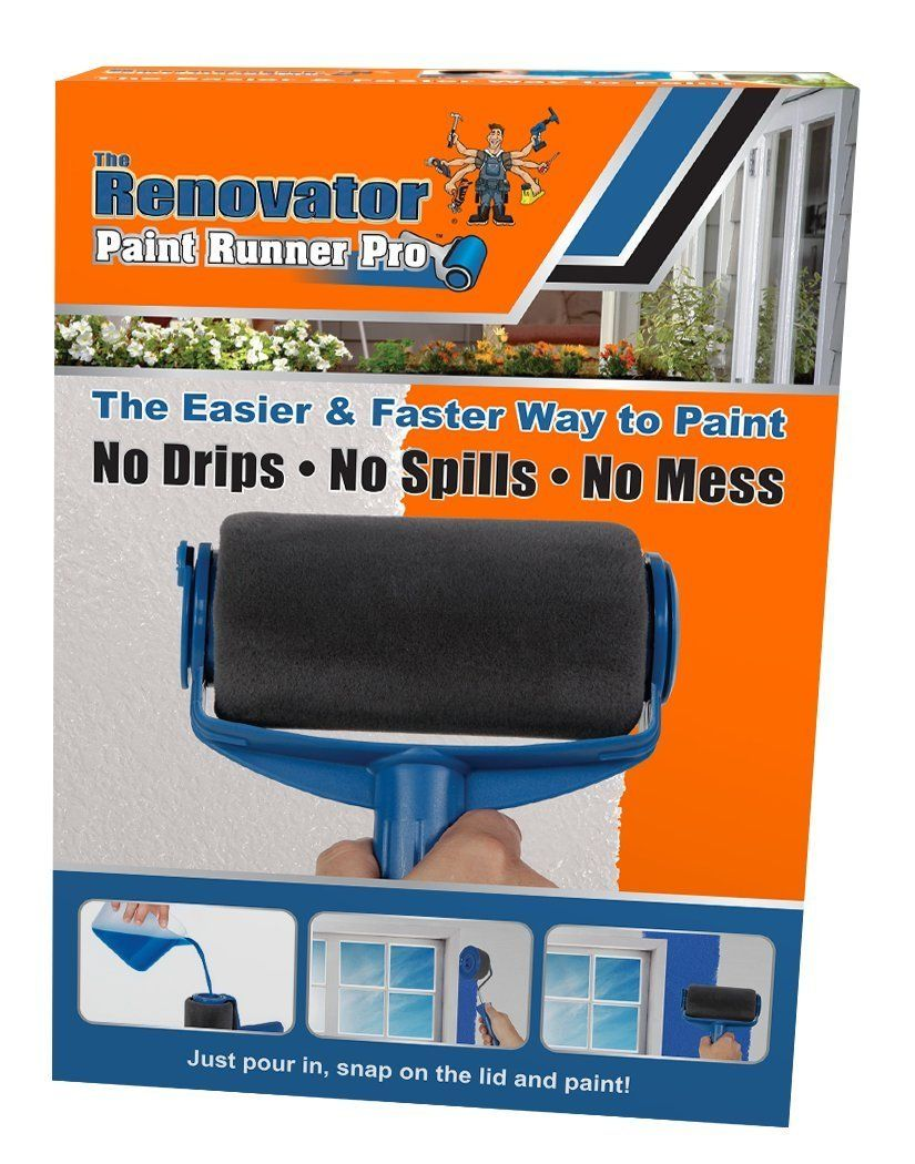 Paint Runner Pro By Renovator No Prep No Mess Simply Pour And Paint To Transform Any Room In Just Minutes Amazon Com Paint Runner Paint Roller Tv Wall