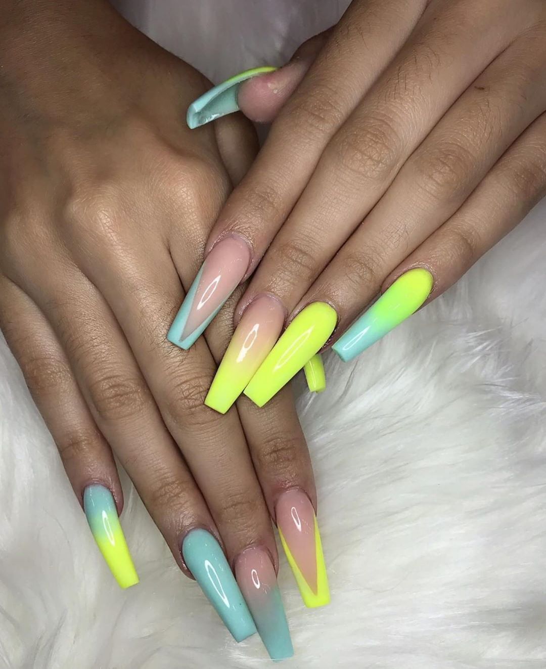 Black Girls Do Nails On Instagram Marilynbeauty Blackgirlsdonails Bgdn Long Acrylic Nails Rainbow Nails Best Acrylic Nails