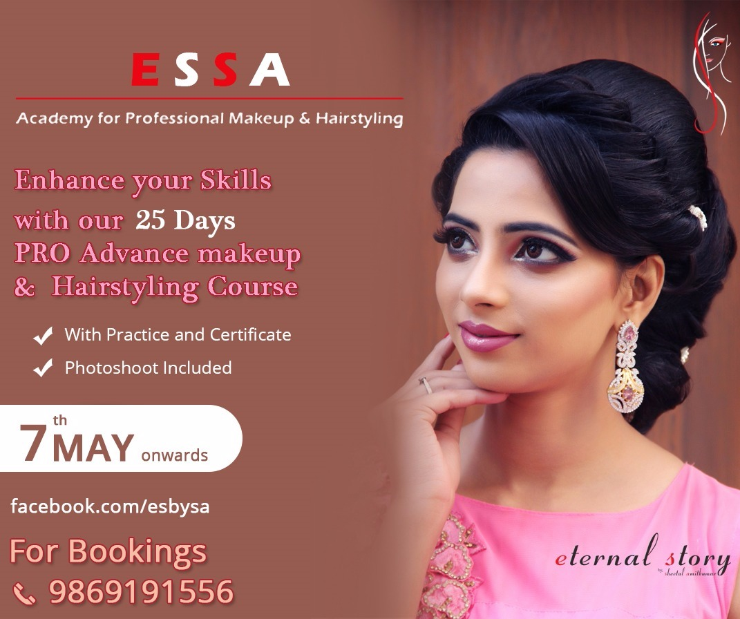 Essa Academy For Professional Makeup Hairstyling 25 Days Pro Advance Makeup And Hairstyling Course With Professional Makeup Bridal Makeover Hair Styles