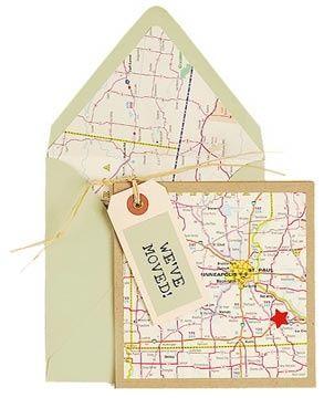 Abschied Umzug paper source change of address card idea abschied umzug